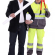 Stock Photo: Architect and builder