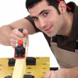 Carpenter sanding — Stock Photo #10328482