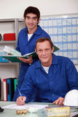 Work in a shop — Stock Photo