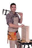 Portrait of a cabinet maker — Stock Photo