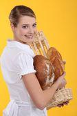 Female baker — Foto de Stock