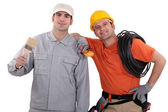 Painter and an electrician — Stock Photo