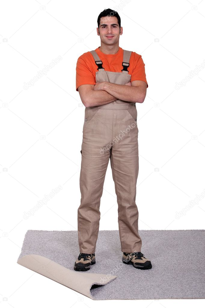 Carpet fitter  Stock Photo #10324520