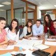 Staff meeting in an office — Stock Photo
