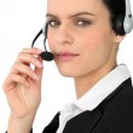 Telephone operator — Stock Photo