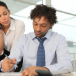 Man and woman in office — Stock Photo #10345927
