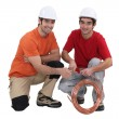 Stock Photo: Two plumbers