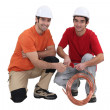 Two plumbers — Stock Photo