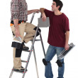 Stock Photo: Two male decorators