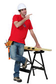 Carpenter giving directions. — Stock Photo