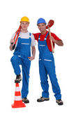 A team of tradesmen — Stock Photo
