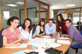 Staff meeting in an office — Foto de Stock