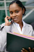 African businesswoman on the phone — Stock Photo