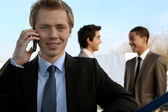 Young executive on the phone — Stock Photo