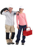 A team of tradespeople — Foto Stock