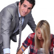 Stock Photo: Supervising teacher exam