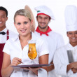 Restaurant team — Stock Photo