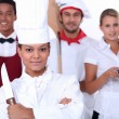 Restaurant staff - Stock Photo