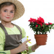 Stock Photo: Young florist