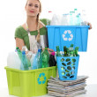 Woman recycling — Stock Photo #10378478