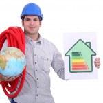 Eco-friendly builder — Stock Photo