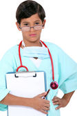 Young boy dressed as a doctor — Stock Photo