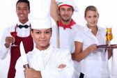 Restaurant staff — Foto de Stock