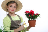A young florist — Stock Photo