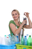 Ecological recycling message — Stock Photo