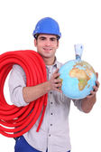 Holding the world — Stock Photo