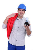 Portrait of a hard-working tradesman — Stock Photo