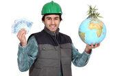 Saving the planet is profitable — Stock Photo