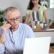 Stock Photo: Help at home for elderly