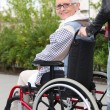Elderly woman in wheelchair - Stock Photo