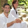 Stock Photo: Zen Couple
