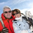 Mature ski couple — Stock Photo #10385867