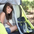 Camping Girl — Stock Photo