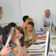 Students in university class — Stock Photo #10388412
