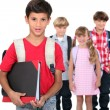 School children - Stock Photo