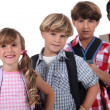 Stock Photo: Row of schoolchildren