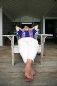 Retired man relaxing — Stock Photo