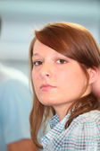 Profile shot of female student — Stock Photo