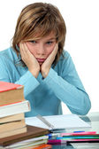 Really don't want to do my homework. — Stock Photo