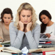 Stressed students - Stock Photo