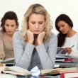 Stressed students — Stock Photo
