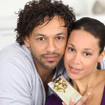 Couple gift giving — Stock Photo #10391258