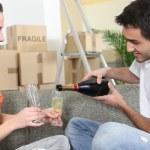Couple toasting the new house — Stock Photo #10391280