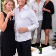 Stock Photo: Couples having party