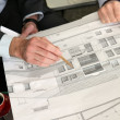 Architect debating over project details - Stockfoto