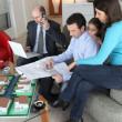 Stock Photo: Family buying a new house